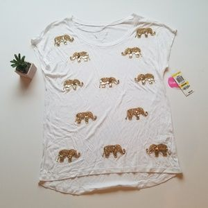 Gold Elephant Relaxed Tshirt